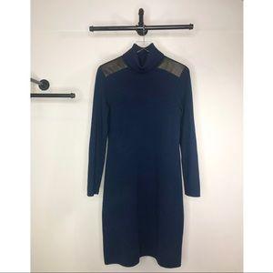 Kate Spade Leather Patch Sweater Dress Size Medium